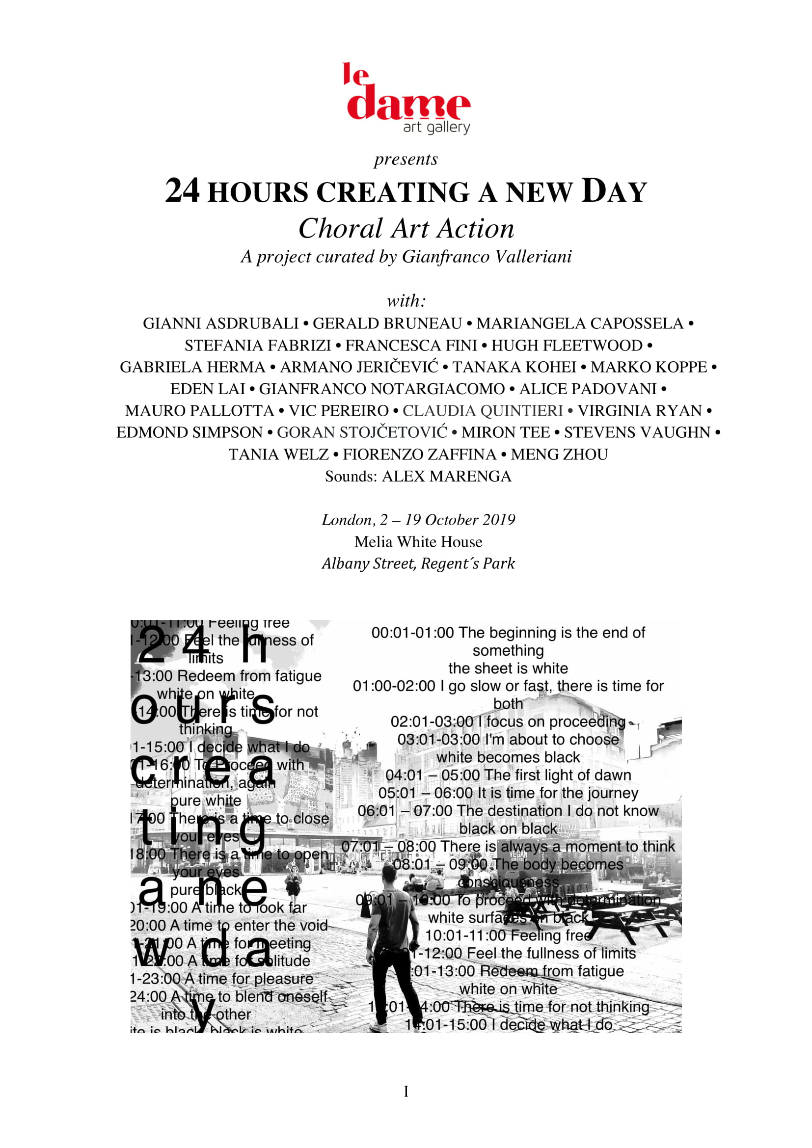 Amptek's music at 24 HOURS CREATING A NEW DAY (London)