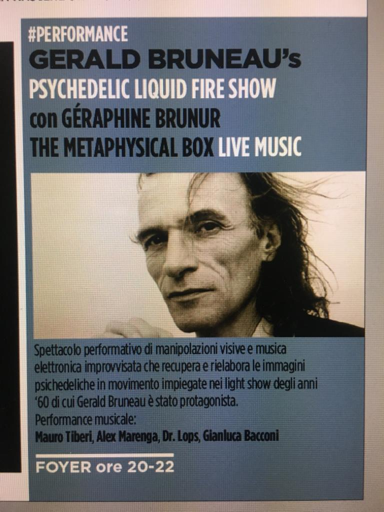 The Metaphysical Box will play @ Macro Asilo in Rome with surrealist performer Gerald Bruneau in a Psychedelic performance